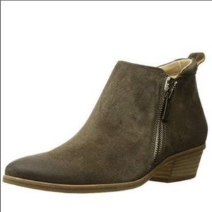PAUL GREEN Brown Suede Leather Distress Booties 7